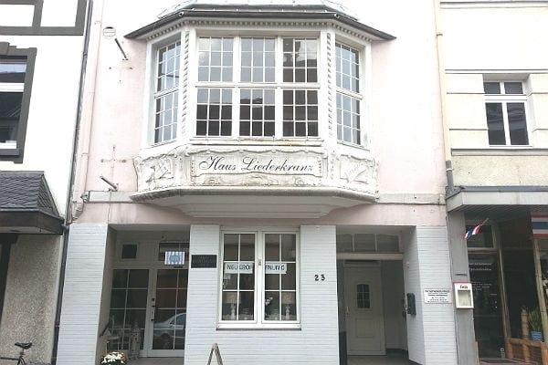 Außen völlig unverändert: Das Haus Liederkranz in der Laurentiusstraße