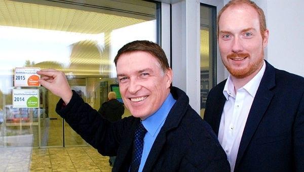 Kreisdirektor Dr. Erik Werdel und Torsten Schmitt, Koordinator im Übergang Schule-Beruf.