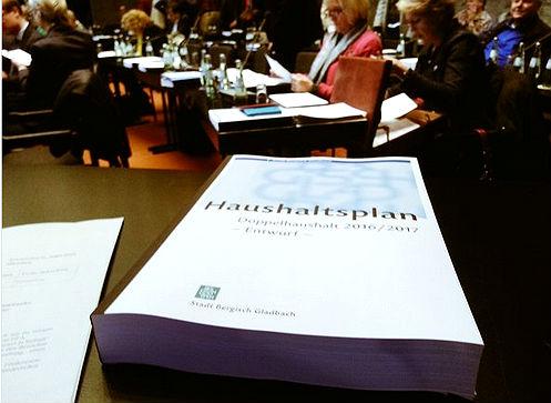 Der Haushaltsentwurf Bergisch Gladbach 2016 2017