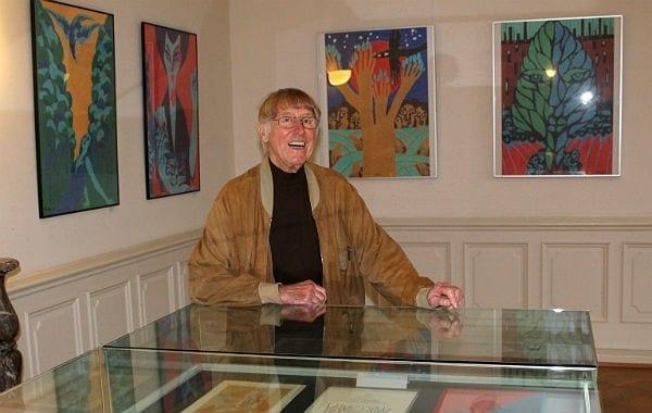 Eduard aPrüssen in seiner Ausstellung in der Villa Zanders
