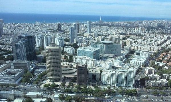 Der Blick auf Tel Aviv