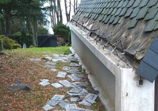 Die Schäden an der Friedhofskapelle
