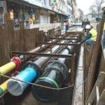 Belkaw leitet Trinkwasser an der Buchmühle über Brücke