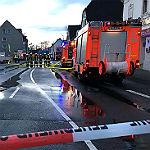 Schwerverletzte bei Brand in Flüchtlingscamp Lückerath