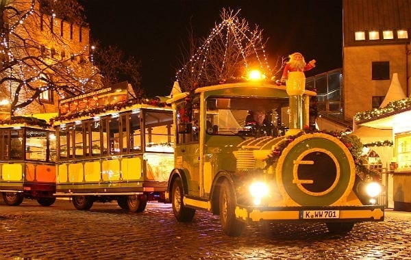 Die Weihnachts-Bimmelbahn fährt jetzt auch durch Bergisch Gladbach