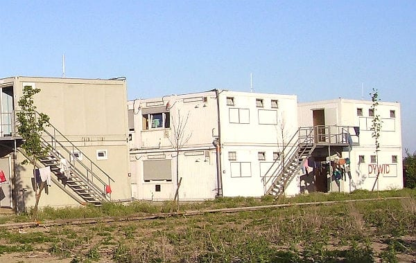 Wohncontainer. Foto: Immanuel Giel/Wikimedia