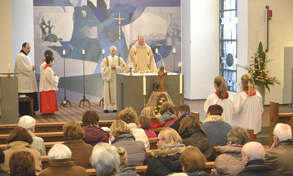 Gottesdienst in der Kirche St. Antonius Abbas