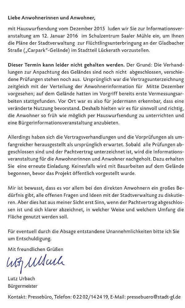 Lückerath Absage Infotermin 600