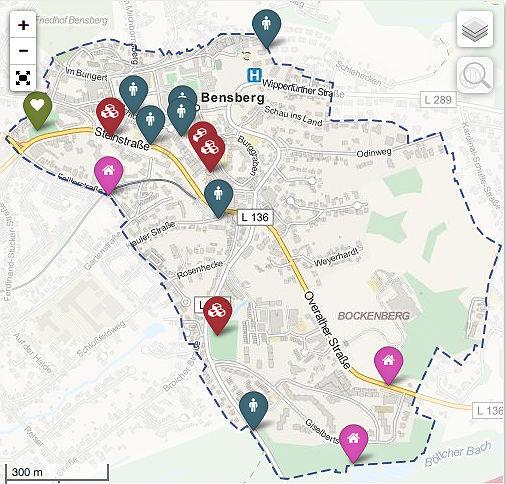 Auf dieser interaktiven Karte (die auch den Betrachtungsraum definiert) können Bürger Vorschläge eintragen. Mit einem Klick auf das Bild werden Sie zur Karte weiter geleitet.