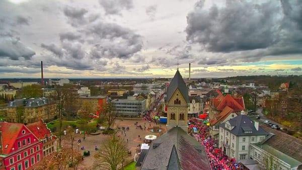 Blick über St. Laurentius Richtung Westen