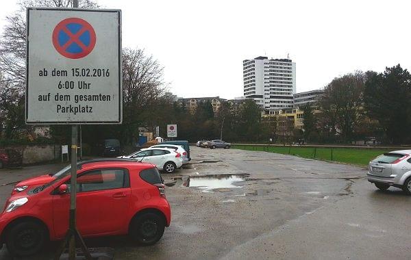 Der Parkplatz Buchmühle wird am 15.2. für die öffentliche Nutzung dicht gemacht
