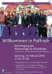 Flüchtlinge Flyer Paffrath 450