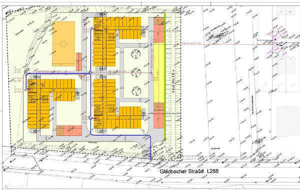 Der Lageplan der Unterkunft in Lückerath