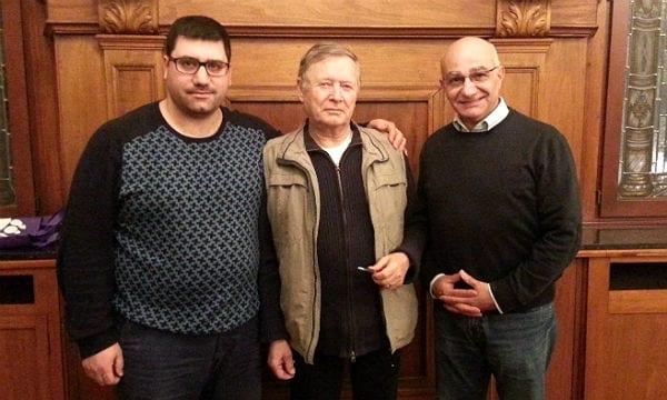 Der Vorstand des Integrationsrates: Saim Basyigit, Klaus Farber, Bülent, Ilyik. Mechthild Münzer fehlt auf dem Foto.