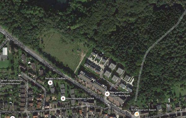Der neue Standort - an der Landstraße zwischen Heidkamp und Bensberg