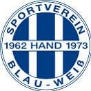 Logo Blau-Weiß Hand quadrat