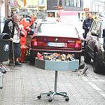 Schloßstraße: 89-jähriger Autofahrer verletzt Fußgänger