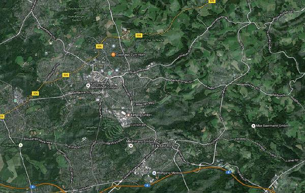 Luftbild Bergisch Gladbach. Foto: Google Maps