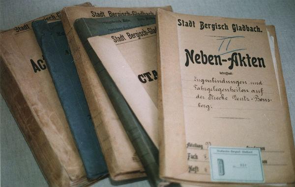 Historische Akten des Stadtarchivs Bergisch Gladbach