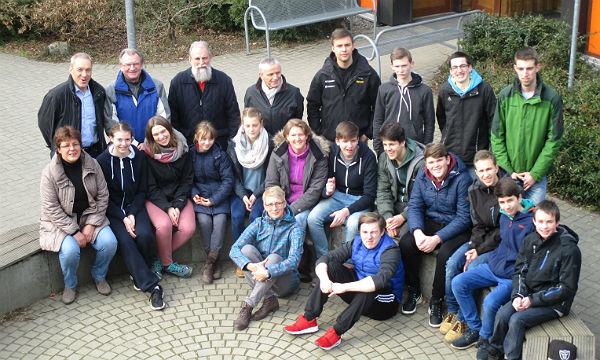 Die Teilnehmer des Sportwochenendes der Staubwolke Refrath