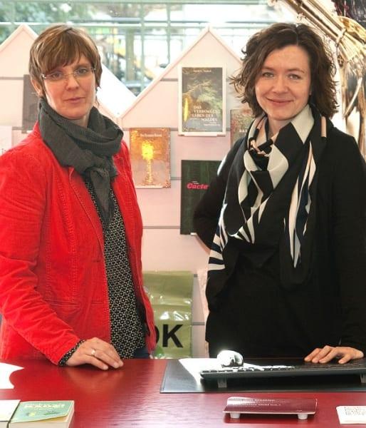 Pia Patt und Birgit Jongebloed führen die Buchhandlung Funk in Bensberg