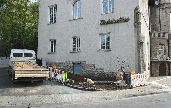 Der künftige Charly-Vollmann-Platz am Rathaus