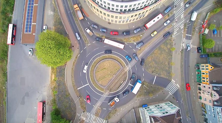 Driescher Kreisel aus der Luft. Foto: BergischSchön