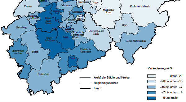Karte Erwerbstätige in der Region