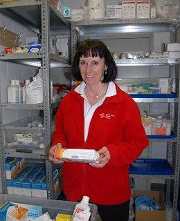 Ingeborg Schmidt (DRK) Im Dienst im Marien-Krankenhaus Bergisch Gladbach