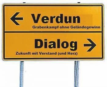 Schild Dialog