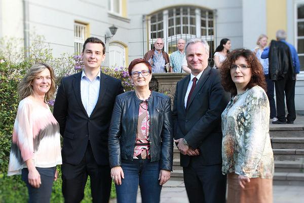 Manuela Meissgeier (Vize-Ortsvereinsvorsitzende), Marcel Kreutz (Stadtrat), Birgit Sippel (MdE), Robert Winkels (Ortsvereinsvorsitzender), Ute Stauer (Stadträtin)