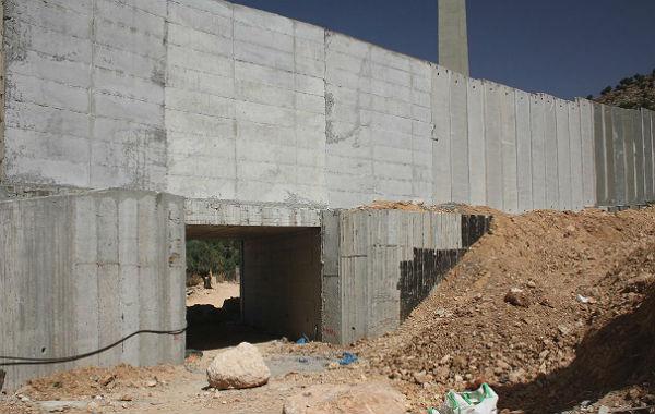 Mauerbau in Beit Jala, Partnerstadt von Bergisch Gladbach