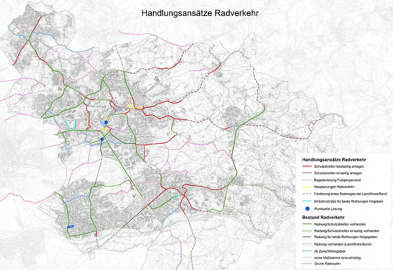 Handlungsansätze für den Radverkehr im Mobilitätsgesetz Bergisch Gladbach