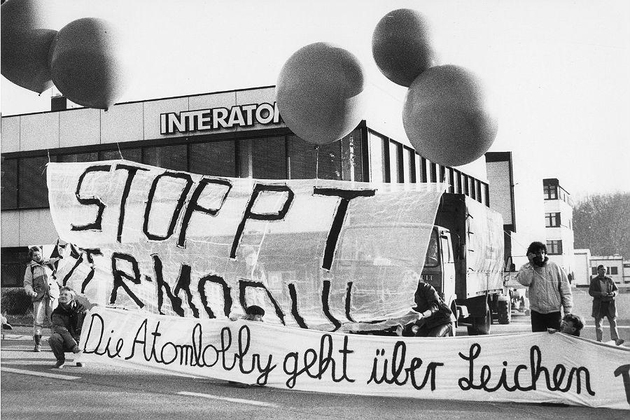 Schauplatz von Demonstrationen der Kernkraftgegner, Interatom in Bensberg, Bergisch Gladbach