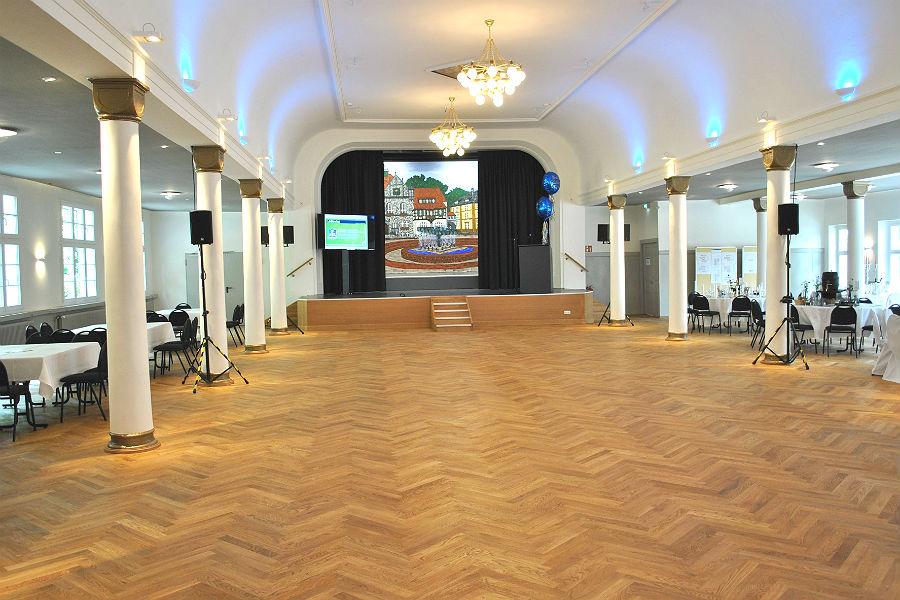 Der traditionsreiche Bocker Saal im Gaffel am Bock nach der Sanierung, Bergisch Gladbach