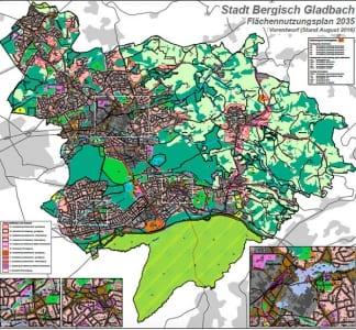 Der Vorentwurf für den neuen Flächennutzungsplan Bergisch Gladbach
