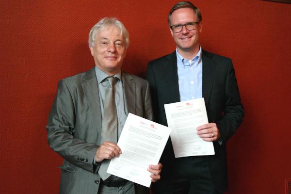 Die Fraktionschefs Klaus Waldschmidt (SPD) und Michael Metten (CDU)