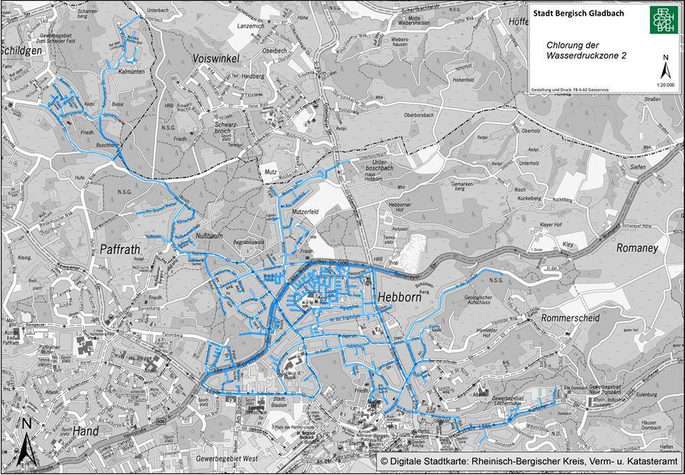 Die gesamte Wasserdruckzone 2 ist betroffen.