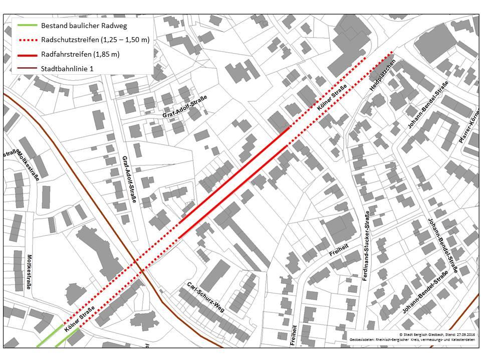 Die Pläne für die Kölner Straße in Bensberg