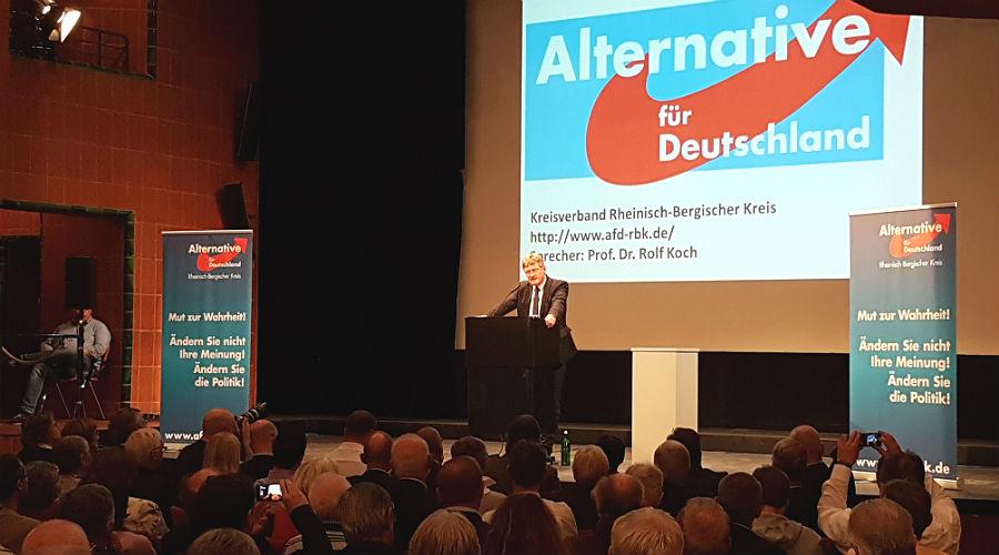 Jörg Meuthen, Bundessprecher der AfD, im Bergischen Löwen in Bergisch Gladbach