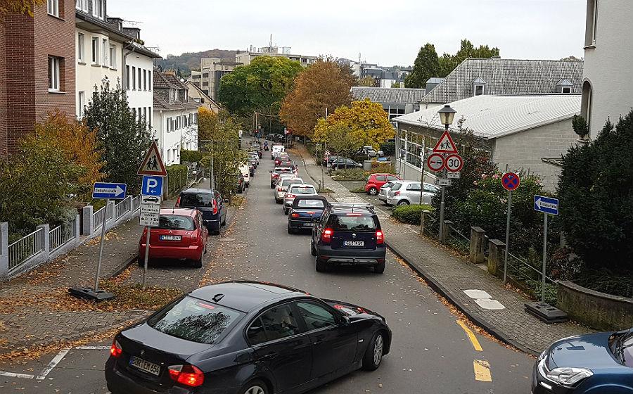 Die Umleitung über Laurentiusstraße und Am Broich fällt in wenigen Tagen weg