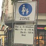 Fußgängerzone ist für den Radverkehr geöffnet