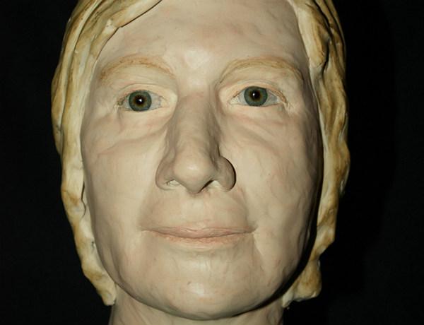 Das Gesicht der unbekannten Toten wurde rekonstruiert. Foto: Polizei
