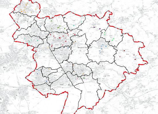 Baulücken in Bergisch Gladbach. Screenshot: Geoportal Stadt GL