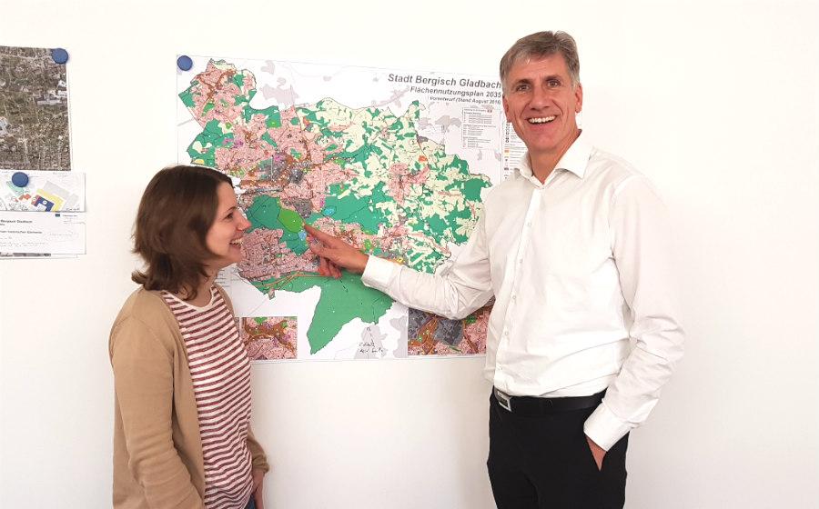 Die Bahntrasse findet sich auch im Entwurf für den neuen Flächennutzungsplan
