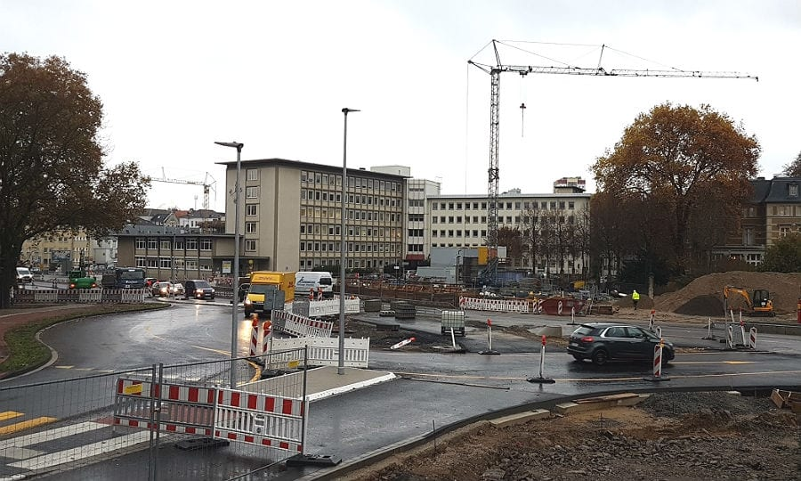 Der Kreisverkehr wird deutlicher sichtbar:
