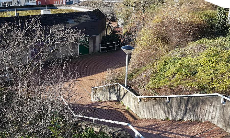 So sieht die Treppe vom Markt zur Schlossstraße derzeit aus