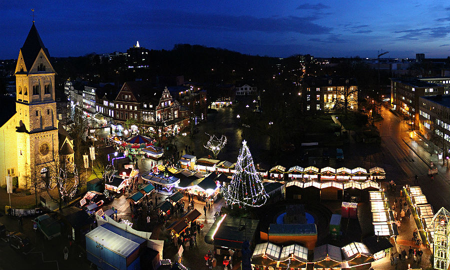 Der Weihnachtsmarkt in der Stadtmitte, Bergisch Gladbach