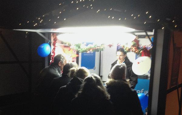 Der Unicef-Stand auf dem Weihnachstmarkt