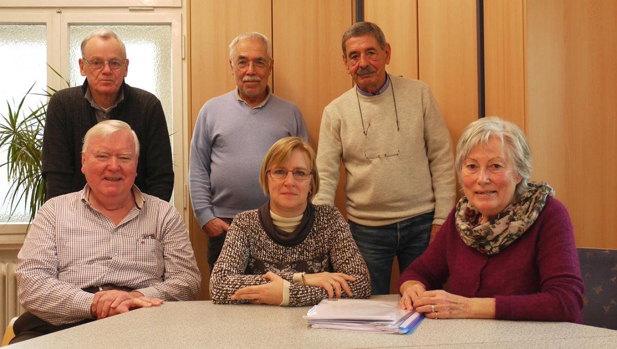 Das Team des Patenprojektes: Manfred Lenthe, Friedhelm Bilski, Wolfgang Schneider, Ute Grosch, Werner Haas, Dorothea Grönke